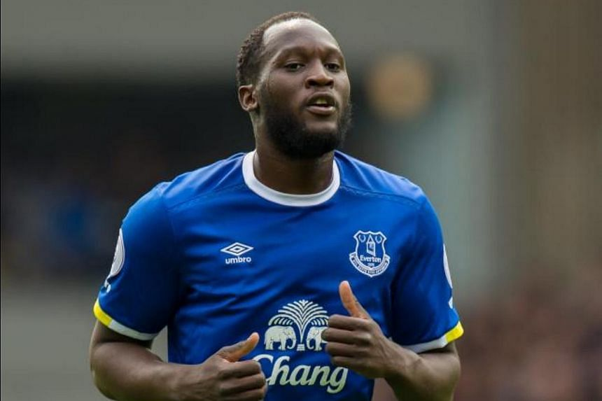 Everton's Romelu Lukaku reacts during the English Premier League soccer match between Everton and Chelsea held at Goodison Park, Liverpool, Britain, on April 30, 2017.