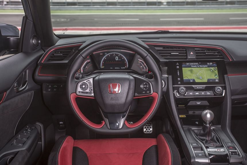 The Honda Civic Type R produces 320bhp and 400Nm, nearly double what the 1.5-litre turbo Civic produces.