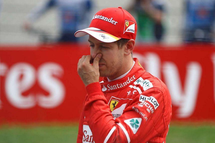 Vettel finishes second during qualifying for the Austrian Grand Prix.