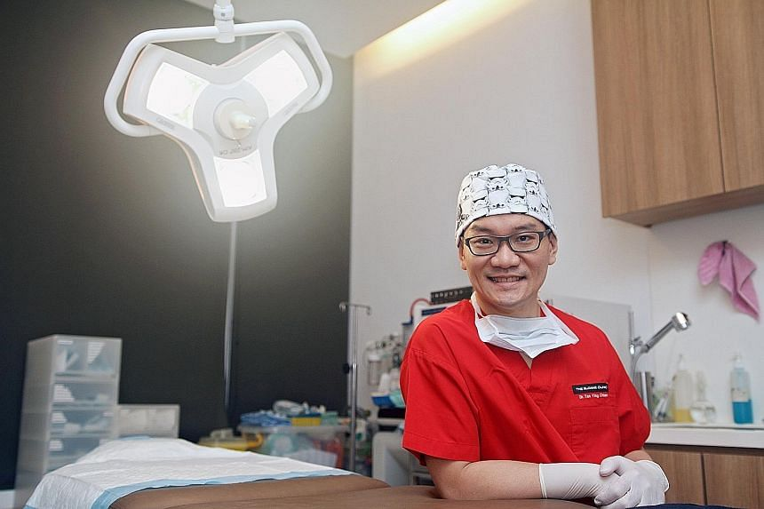 Dr Tan Ying Chien has seen an increase in male patients. His clients include lawyers, bankers, doctors, accountants and even teachers. Freelance actor Kevin Ang has monthly laser treatments to tighten his skin and remove pigmentation. The 42-year-old