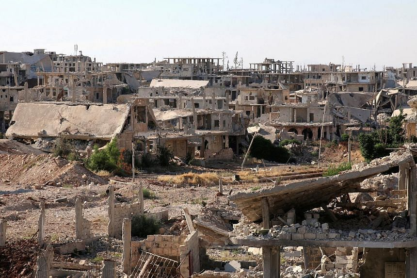 The ceasefire will take effect in the Syrian areas of Daraa (above), Quneitra and Sweida along the Jordanian border. Compared with other parts of the country, south-western Syria has experienced far less violence during the war.