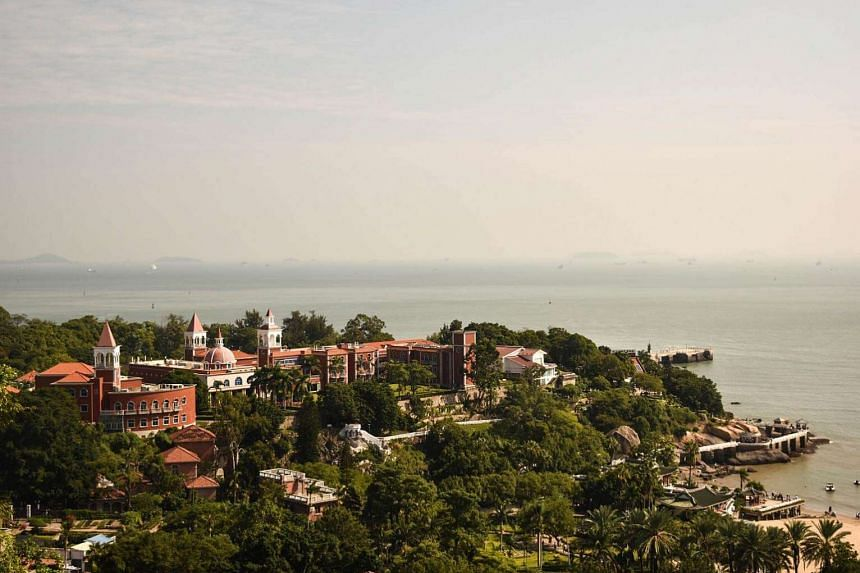 A view of Gulangyu from Sunlight Rock, the highest point of the island.