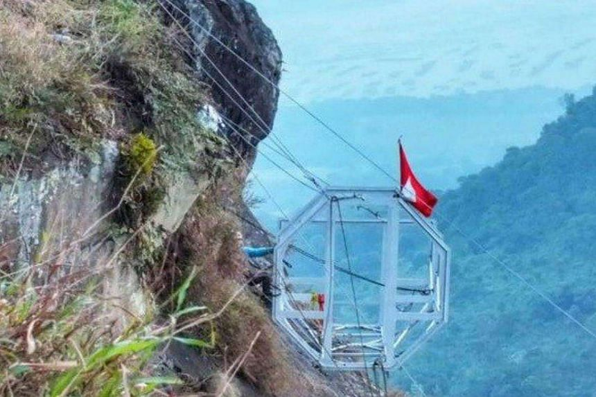 Mount Parang's hanging hotel is said to be the first of its kind in Asia.