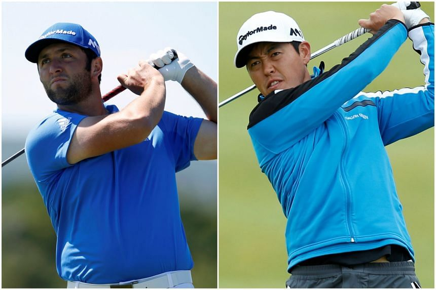 Jon Rahm (left) and Daniel Im remained in joint lead at the Irish Open in Portstewart, Northern Ireland, on July 8, 2017.