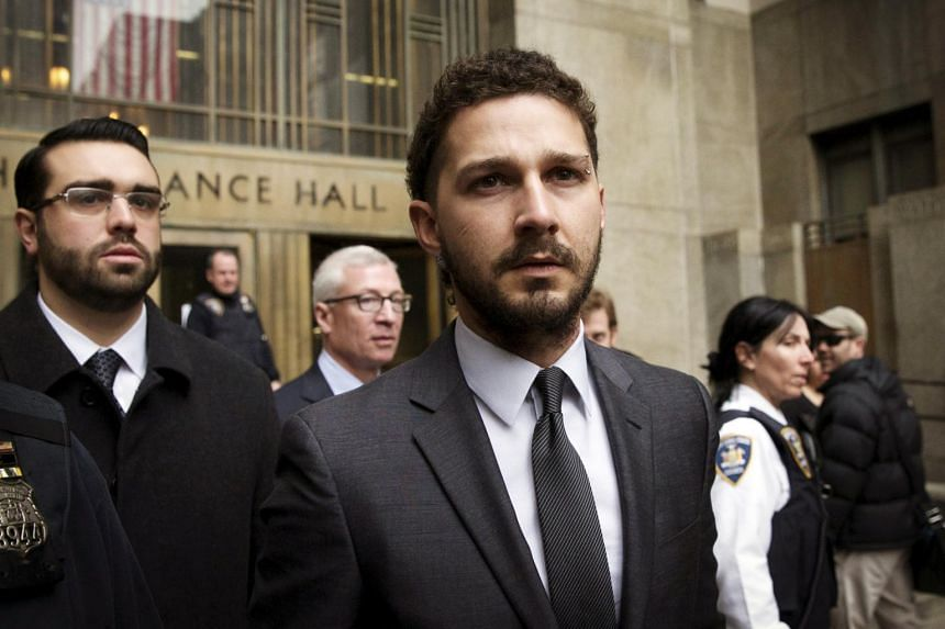 """Authoritites said US film star Shia LaBeouf was arrested in Georgia early Saturday after behaving in a """"disorderly"""" fashion and became """"aggressive"""" towards a police officer."""