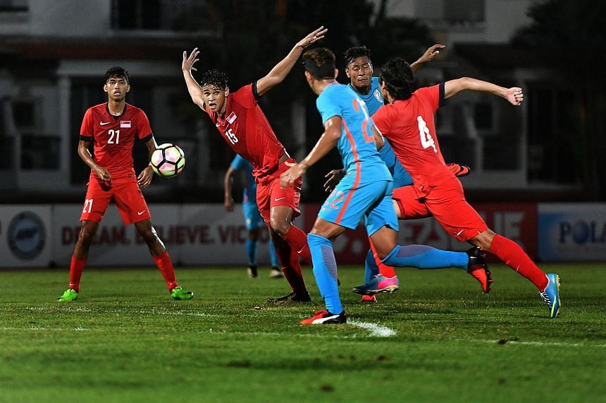 Singapore's SEA Games squad lost to India's U-23 side 1-0 in a friendly match at Choa Chu Kang Stadium on July 9, 2017.