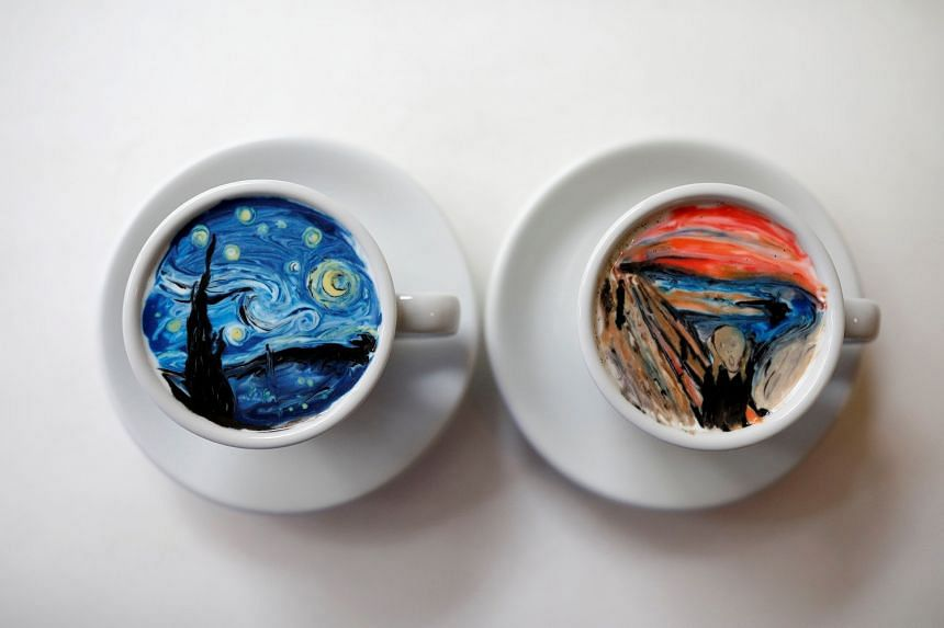 Miniature masterpieces by South Korean barista Lee Kang Bin.