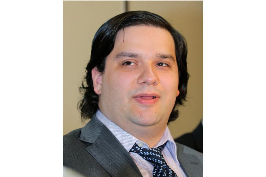 Frenchman Mark Karpeles speaking at a press conference in Tokyo on Feb 28, 2014.