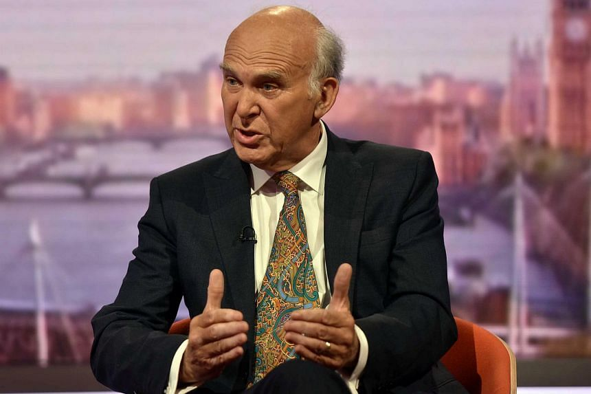 Liberal Democrat MP Vince Cable speaking on BBC's The Andrew Marr Show in London on July 9, 2017.