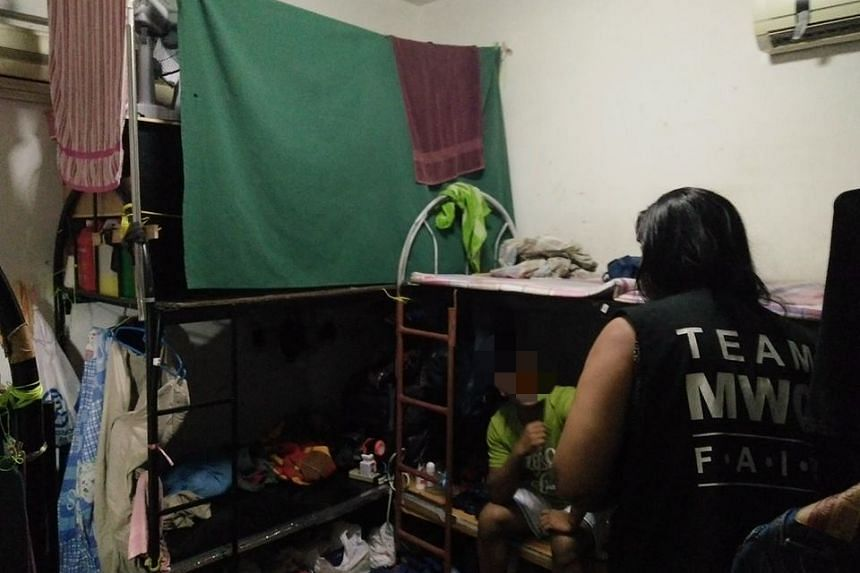 A four-room apartment in Geylang had been converted into an illegal dormitory housing as many as 44 men.
