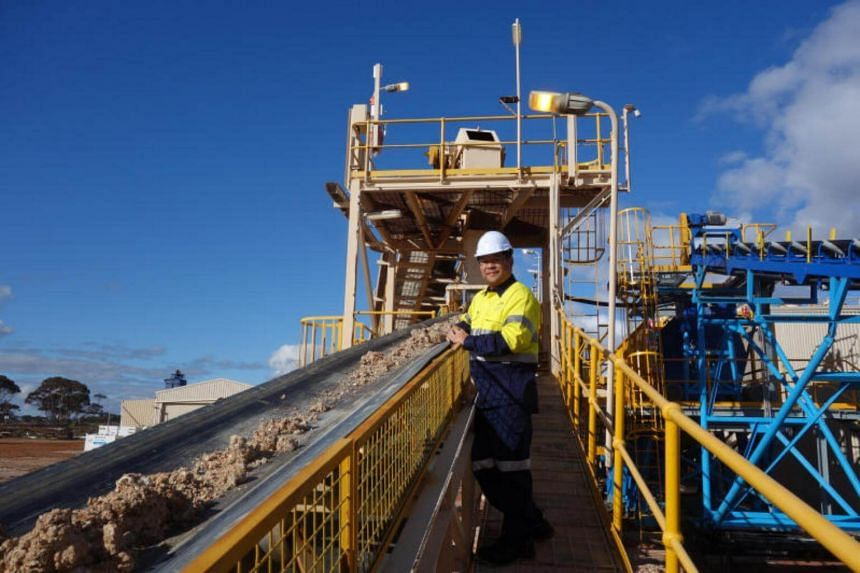 Singapore-listed miner Alliance Mineral Assets' CEO, Tjandra Pramoko, at the Bald Hill mine in Western Australia.