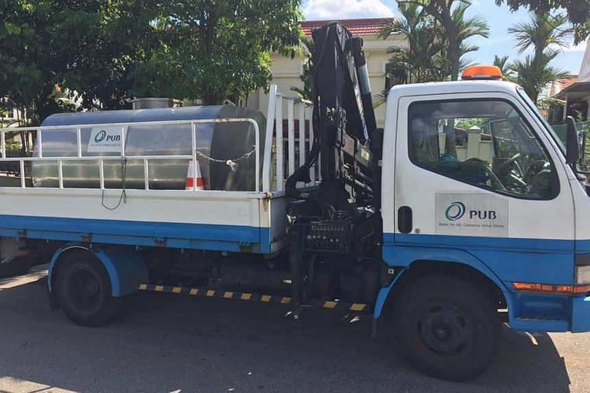 PUB deployed three water wagons to provide temporary water supplies as they received about 20 reports of discoloured water at Nim Drive and Stratton Park from noon on Monday (July 10).