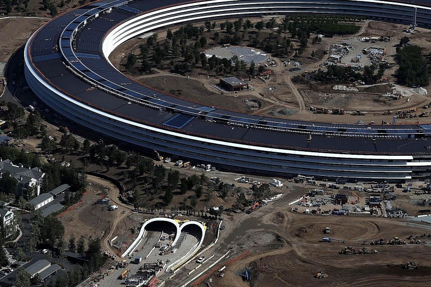 Apple leader Steve Jobs insisted on adding aesthetic touches that would make the company's new headquarters in Cupertino (above) unique and beautiful - and more costly.