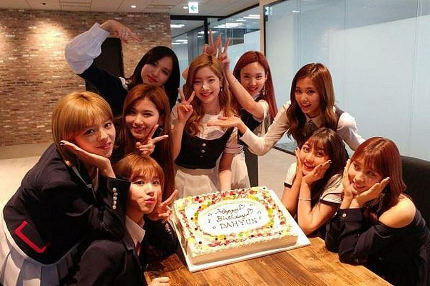 Members of South Korean bands BTS and Twice (above) have received death threats.