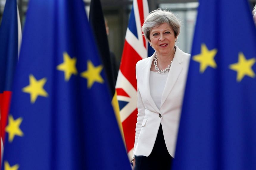 British Prime Minister Theresa May arrives at the EU summit in Brussels, Belgium on June 23, 2017.