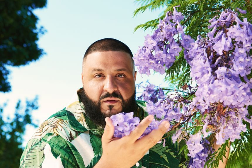 Famed DJ Khaled uses his garden to stay grounded and often takes conference calls among the flowers.