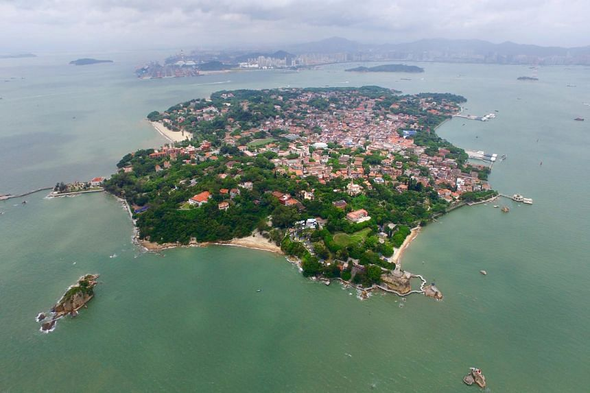 Above: Gulangyu, the pedestrian-only island near the city of Xiamen in Fujian province.