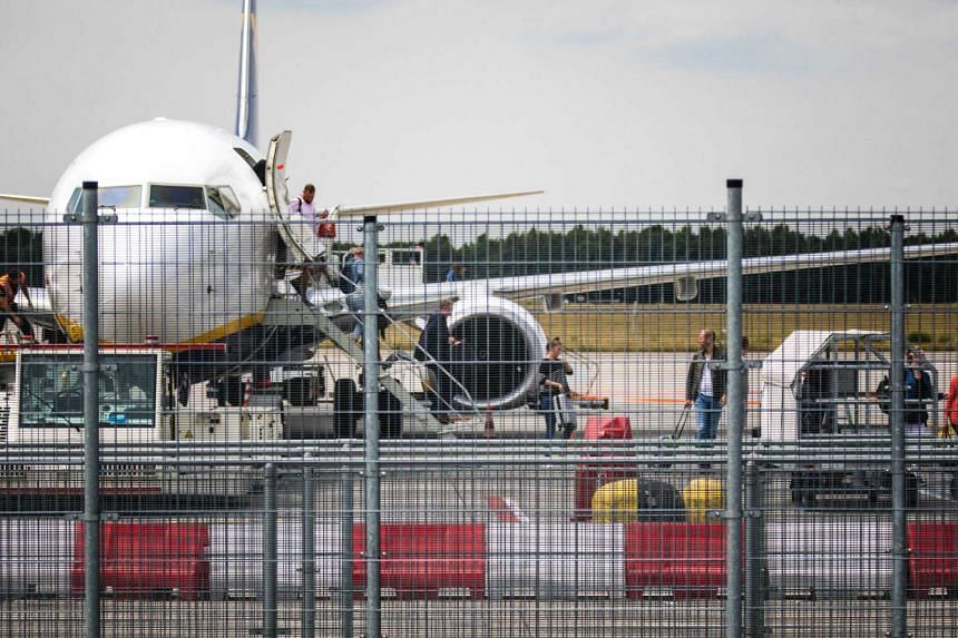 A plane at the airport in Eindhoven, The Netherlands, on July 10, 2017.