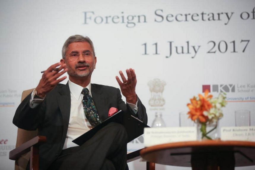 Indian Foreign Secretary Dr Subramanyam Jaishankar at a forum discussing India, ASEAN, and the Changing Geopolitics organized by Lee Kuan Yew School of Public Policy.