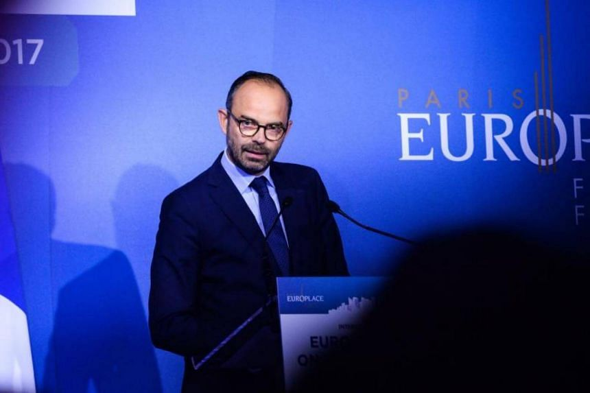 French Prime Minister Edouard Philippe addresses the Paris Europlace International Financial Forum in Paris on July 11, 2017.