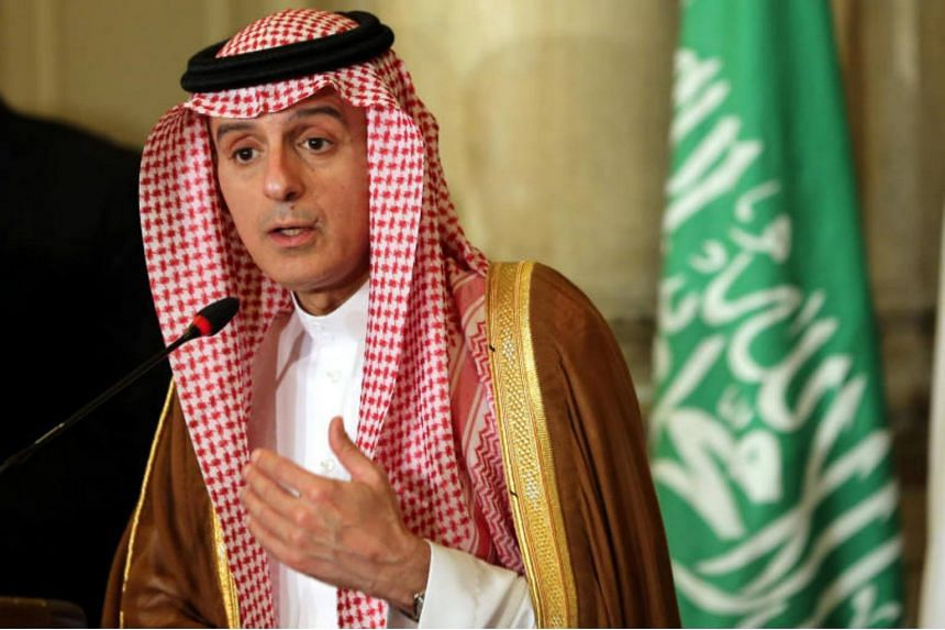 Saudi Foreign Minister Adel al-Jubeir attends a press conference after a meeting that discussed the diplomatic situation of Arab countries with Qatar, in Cairo, Egypt, on July 5, 2017.
