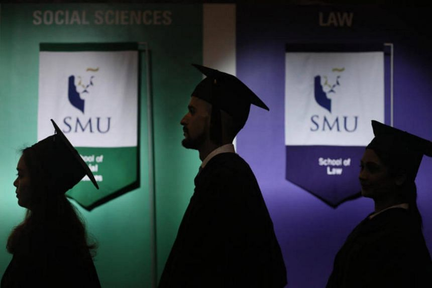 SMU's commencement ceremony was held on its own campus for the first time, at its new School of Law building which opened earlier this year.