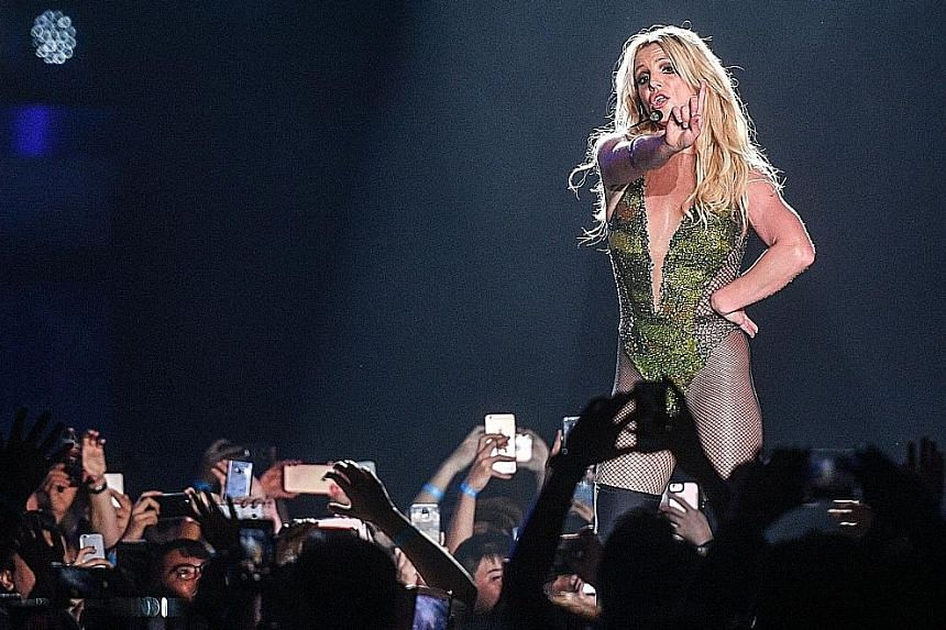 Britney Spears performing in Singapore last month.