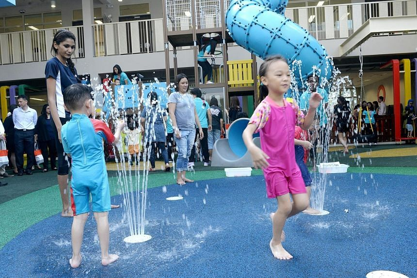 Since NTUC First Campus' My First Skool and the Awwa Early Intervention Centre started operations in Fernvale Link in January and May respectively, their children have had organised play sessions together. They also celebrated Hari Raya Aidilfitri to