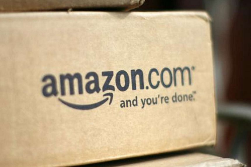 A box from Amazon.com is pictured on the porch of a house in Golden, Colorado on July 23, 2008.