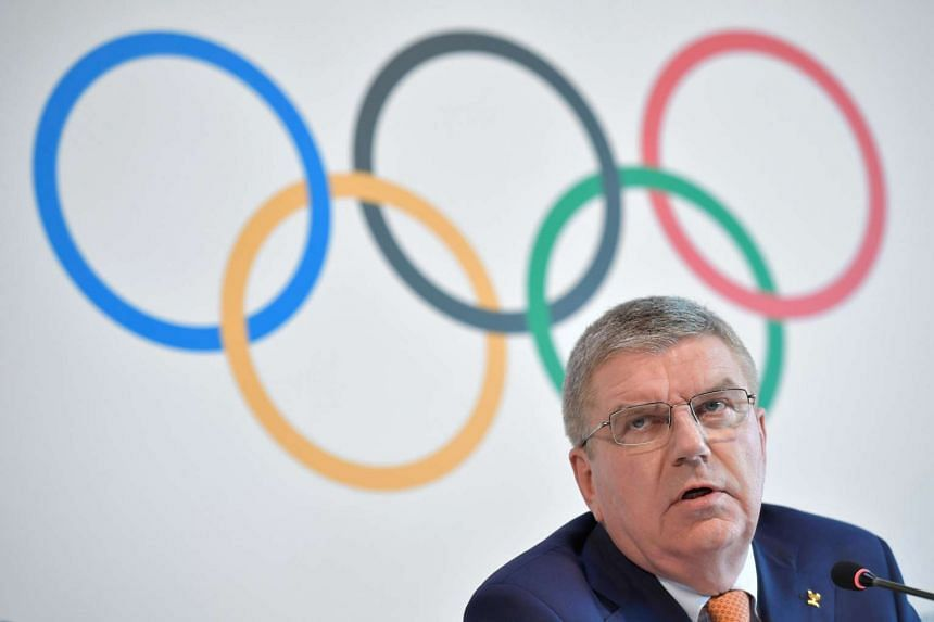 International Olympic Committee President Thomas Bach attends a press conference on June 9, 2017 at the Olympic Museum in Lausanne.