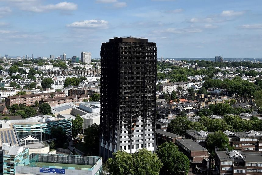 Extensive damage is seen to the GrenfellTower block which was destroyed in a disastrous fire, in north Kensington, West London, Britain, on June 16, 2017.