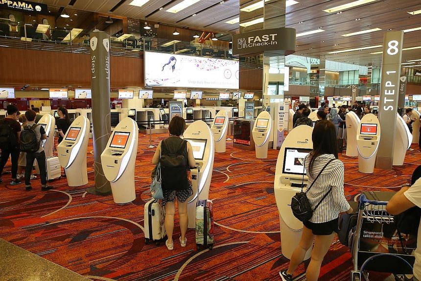 Jetstar Asia customers can now access 30 new self-service check-in kiosks and 20 automated bag drops at Terminal 1. Previously, there were 20 check-in kiosks and 10 bag drops.