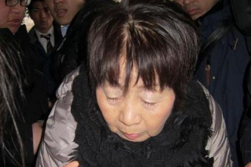 A March 2014 photo of Chisako Kakehi, who was arrested in November that year for poisoning her husband with cyanide.