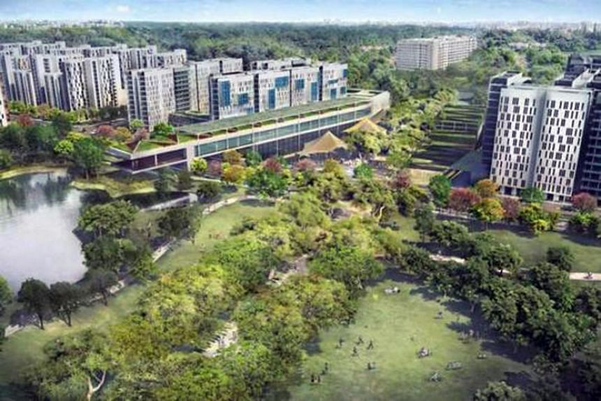 The land is next to Woodleigh MRT station and adjacent to Bidadari New Town (in photo).