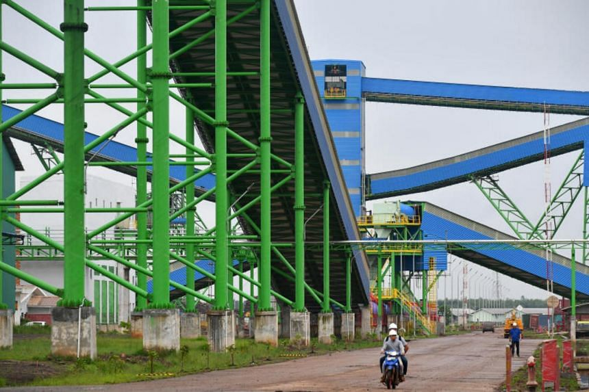 A chip conveyor system seen during the media visit to the Asia Pulp & Paper Group (APP) OKI mill in Palembang, on Feb 27, 2017.