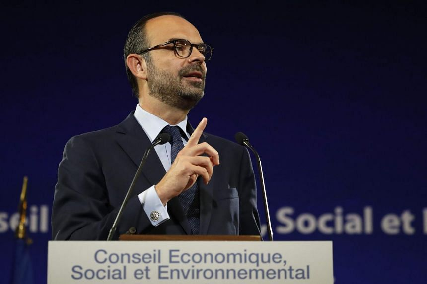 French Prime Minister Edouard Philippe at The Economic, Social and Environmental Council Headquarters in Paris, on July 11, 2017.