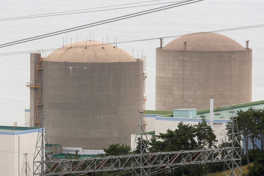 The Kori No. 1 reactor (right) and No. 2 reactor of state-run utility Korea Electric Power Corp (Kepco) in Ulsan, south-east of Seoul.