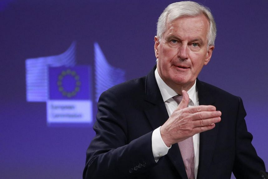 Michel Barnier, the European Chief Negotiator of the Task Force for the Preparation and Conduct of the Negotiations with the United Kingdom under Article 50, gives a press conference on the status of the negotiations, in Brussels, Belgium on July 12,
