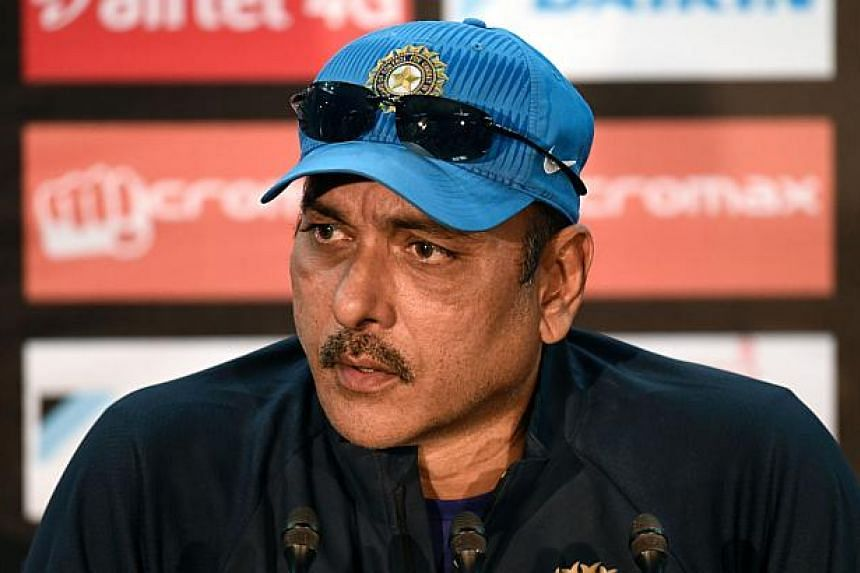Indian cricket coach Ravi Shastri speaking during a press conference prior to a training session at the Sher-e-Bangla National Cricket Stadium in Dhaka on March 5, 2016.