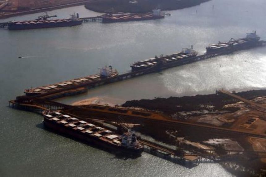 A file picture of a ship waiting to unload its oil shipment. PHOTO: REUTERS
