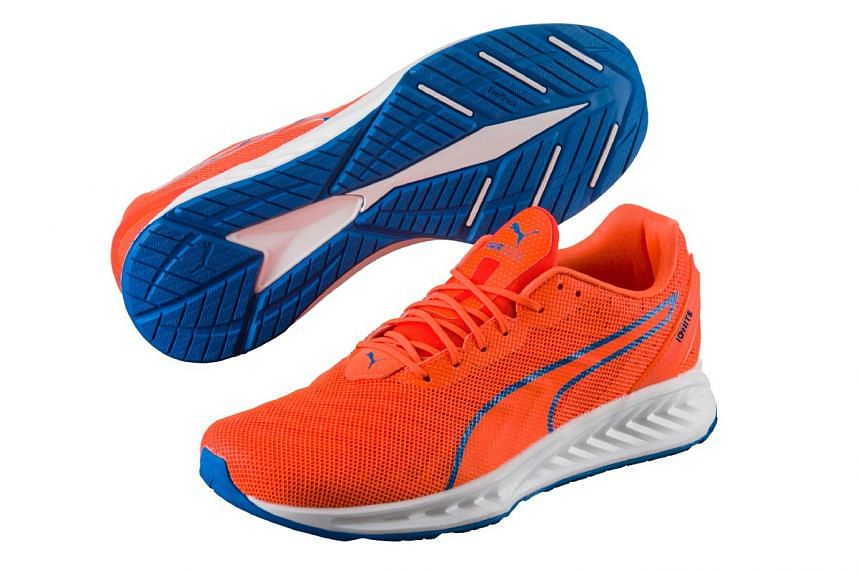 The Ignite 3 PwrCool features Puma's Dri-Freeze collar lining that cools your feet upon contact.