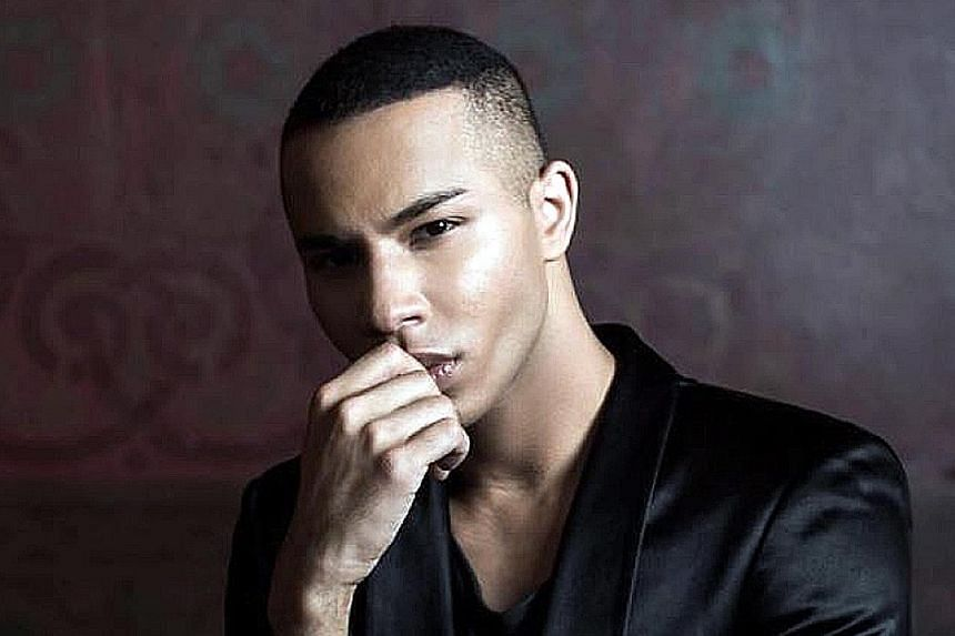Olivier Rousteing (above) started in Balmain as a womenswear designer.