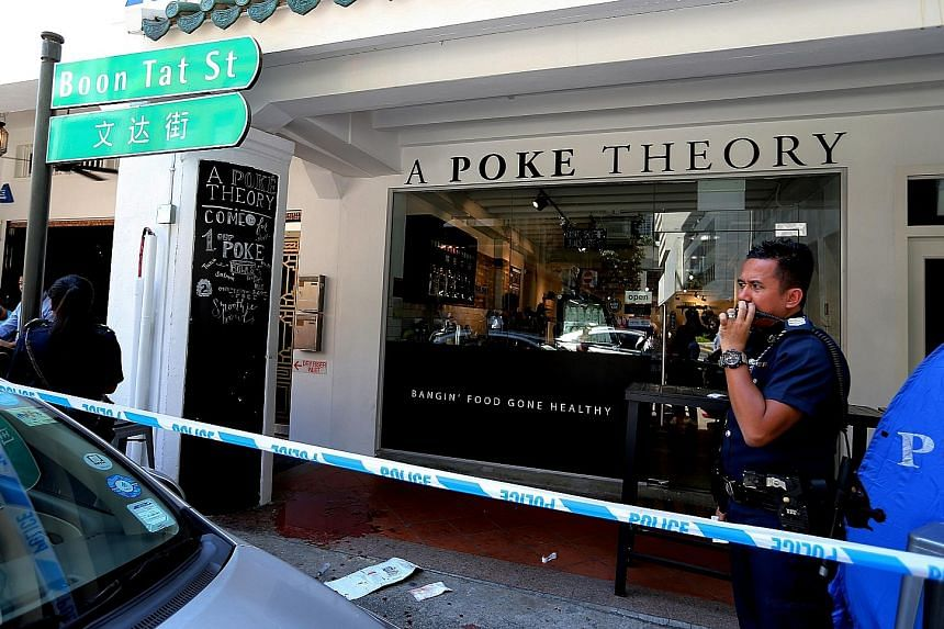 Mr Spencer Tuppani was fatally stabbed on Monday in front of a lunchtime crowd in the Central Business District.