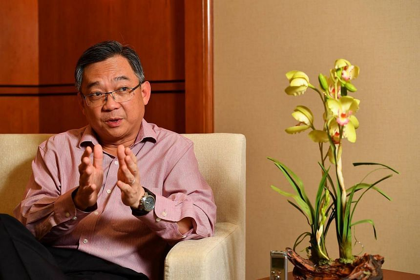 Health Minister Gan Kim Yong speaks  during an interview on Feb 3, 2017.