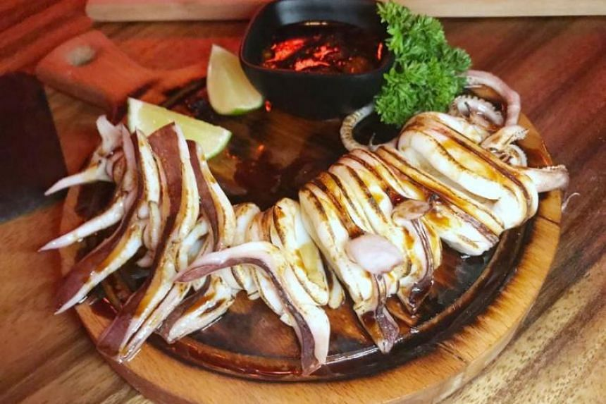 The Torched Grill Sotong costs just $14 for a whole squid.