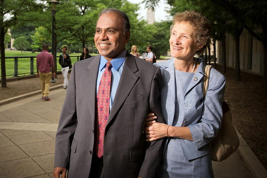 Professor Subra Suresh with his wife Mary on July 11, 2013.