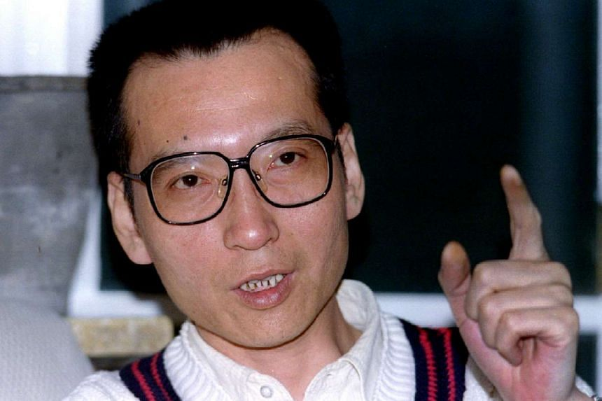 Prominent dissident intellectual Liu Xiaobo pictured during a March 5, 1995 interview.