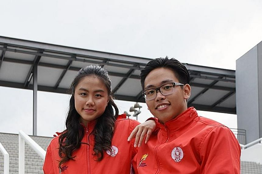 Jade Lim and Eric Yee have ceremonial duties to fulfil today. She will light the cauldron at the opening ceremony at the Singapore Indoor Stadium, while he will recite the athletes' oath.