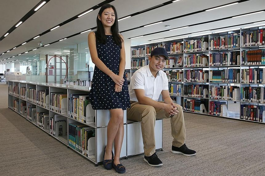 Ms Wang Kaiying and Mr Kevin Jerrold Chan, both 19, will start their medical studies at NTU's Lee Kong Chian School of Medicine next month.
