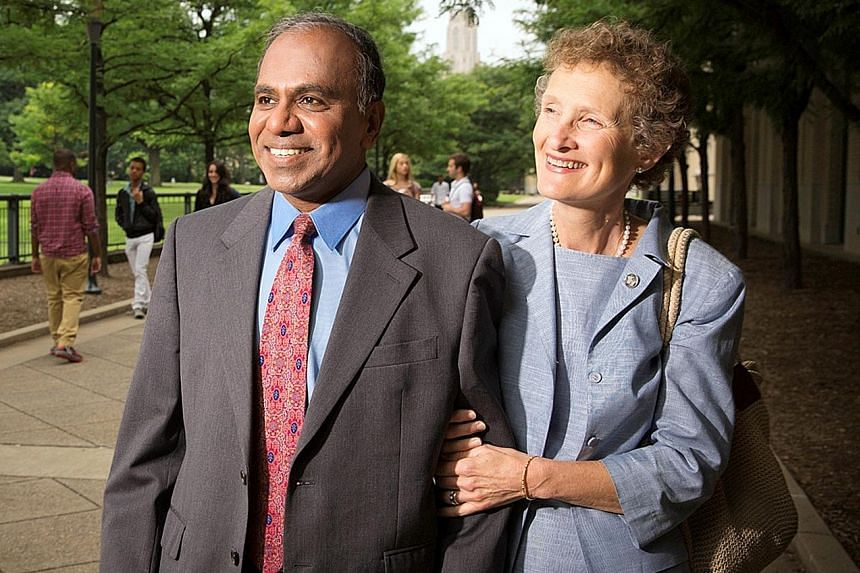 """NTU's current president Bertil Andersson said the future of NTU """"is in safe hands"""" under Prof Suresh. Professor Subra Suresh, seen here with his wife Mary, until recently served as president of Carnegie Mellon University. He said he has been interact"""